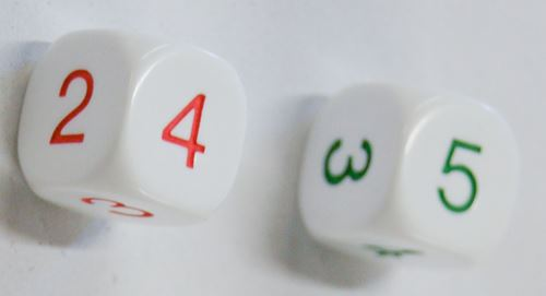 Average dice (green & red)