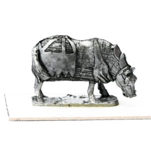 Armoured Horse, grazing