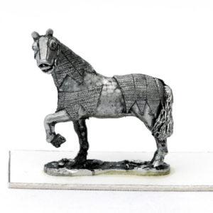 Horse left foreleg raised
