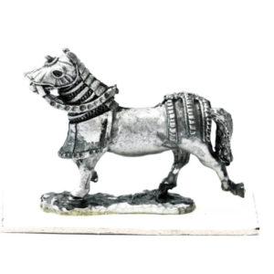 Horse Running, half barded
