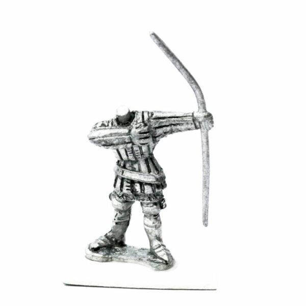 Longbowman firing