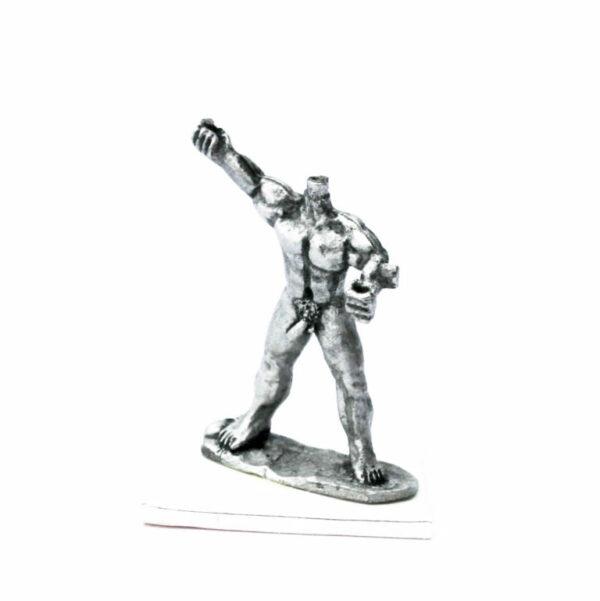 Nude warrior throwing