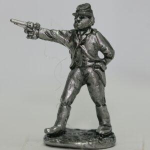 Officer firing revolver
