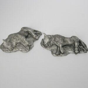 two dead buffalo