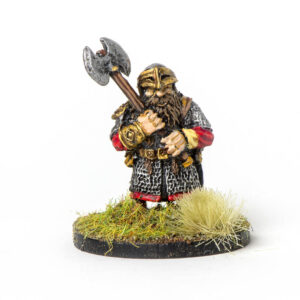 Dwarf with two headed axe