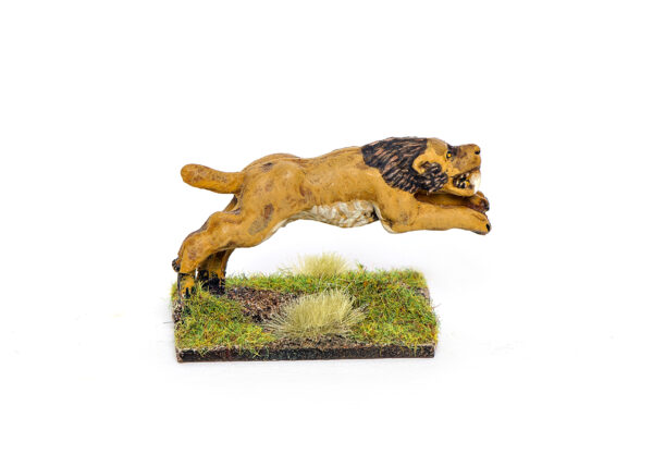Leaping sabre-tooth cat