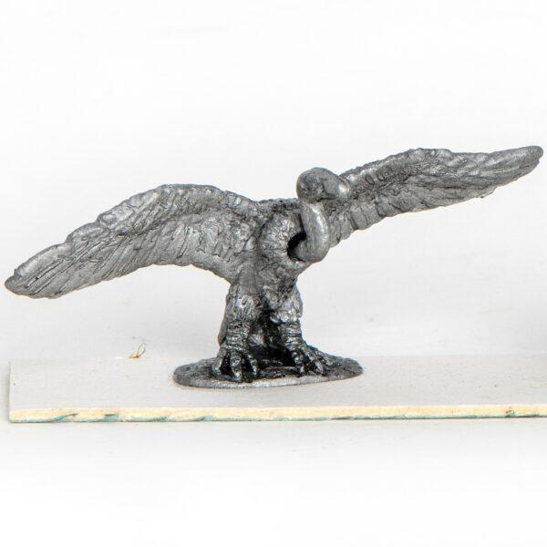 Vulture, wings spread