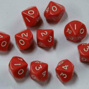 dice marked 0-4 twice