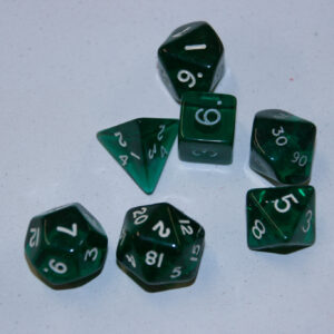 Green Crystal Dungeon Dice set