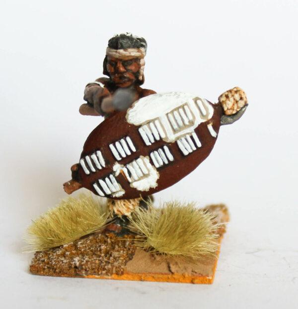 Warrior thrusting Iklwa